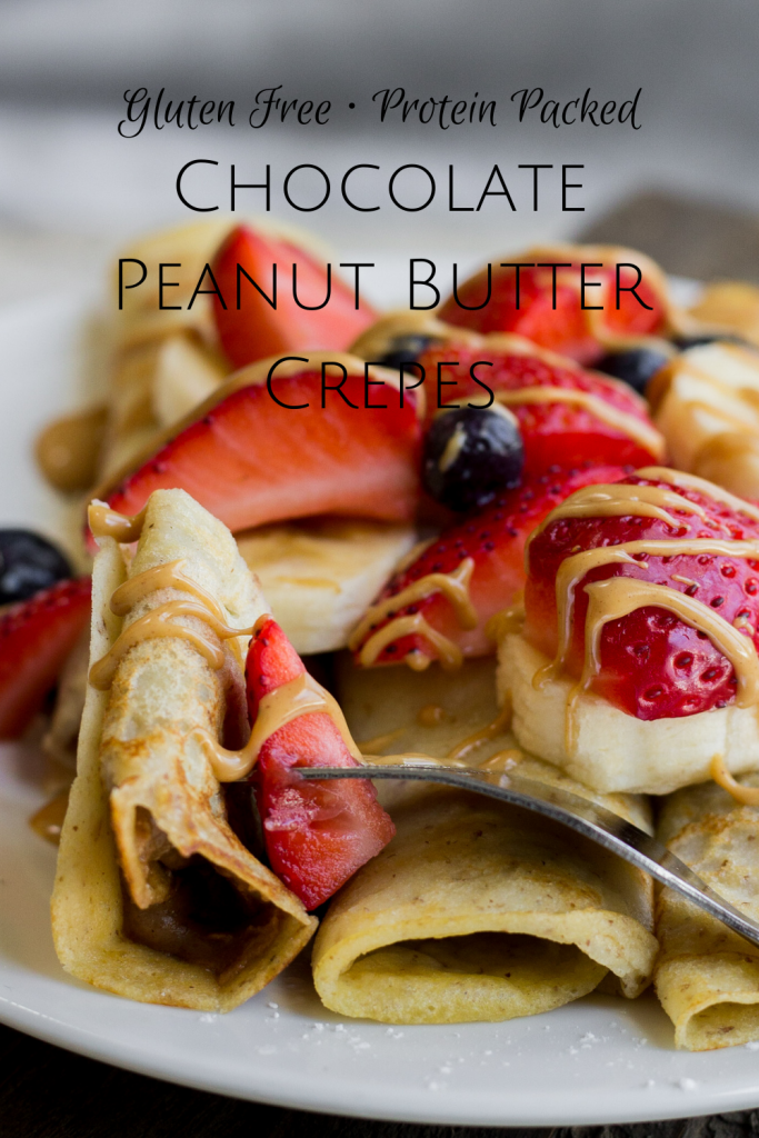 Pinterest Chocolate Peanut Butter Crepes