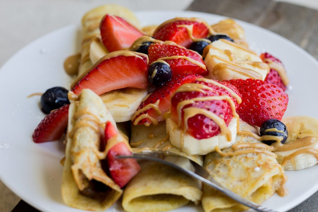Chocolate Peanut Butter Crepes